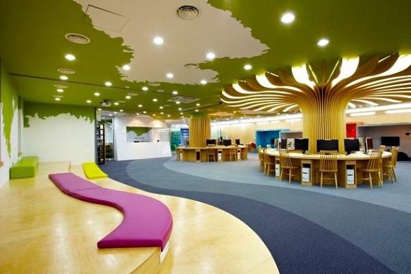 Thư viện Alice Wonderland và khu tự học cho sinh viên Đại học Mokwon