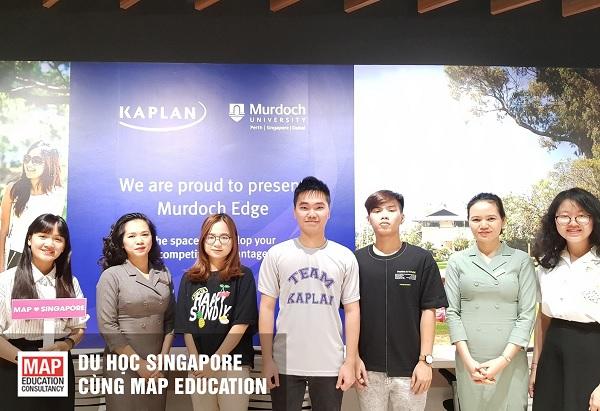 Đại diện MAP đến thăm và gặp gỡ sinh viên ưu tú của học viện Kaplan Singapore
