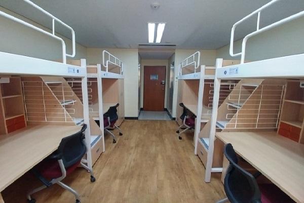 Phòng ký túc xá tiêu chuẩn tại trường Đại học Toàn Cầu Handong Hàn Quốc