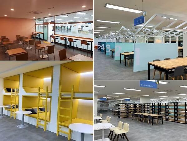 Khu phòng tự học đầy màu sắc và sáng tạo