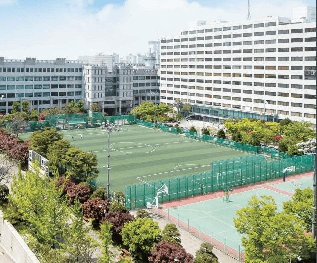 Một góc khuôn viên trường Đại học Bucheon
