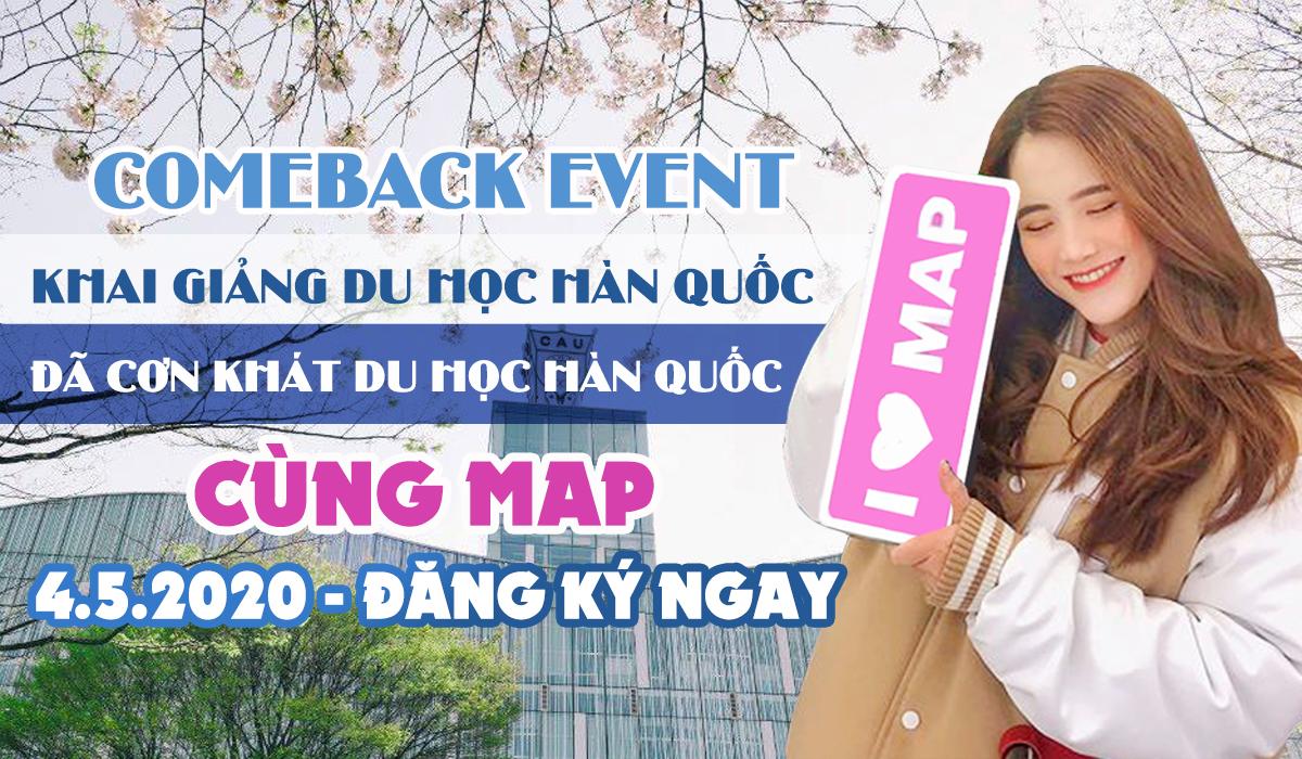 04.05.2020! Comeback Event: Khai Giảng Du Học Hàn Quốc