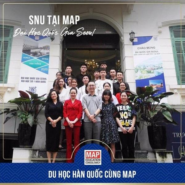 Đại diện trường Đại học Quốc Gia Seoul đến thăm và làm việc tại MAP