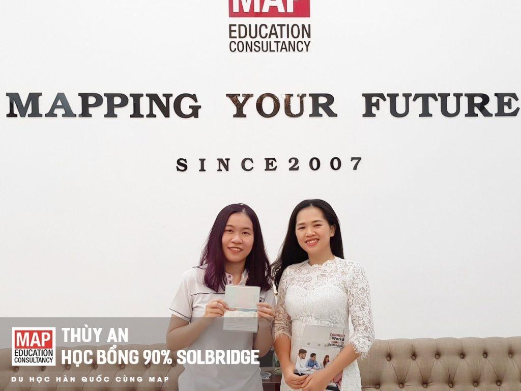 Thùy An Sinh viên MAPgiành học bổng 90% tại Solbridge