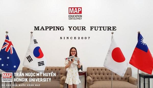 Trần Ngọc Mỹ Huyền - sinh viên của MAP tại Đại học Hongik