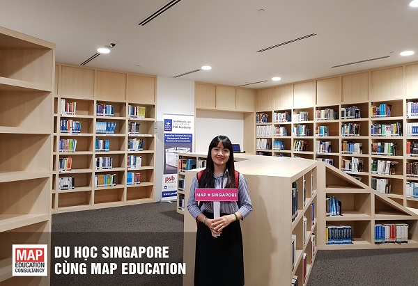 Thư viện của học viện PSB Singapore