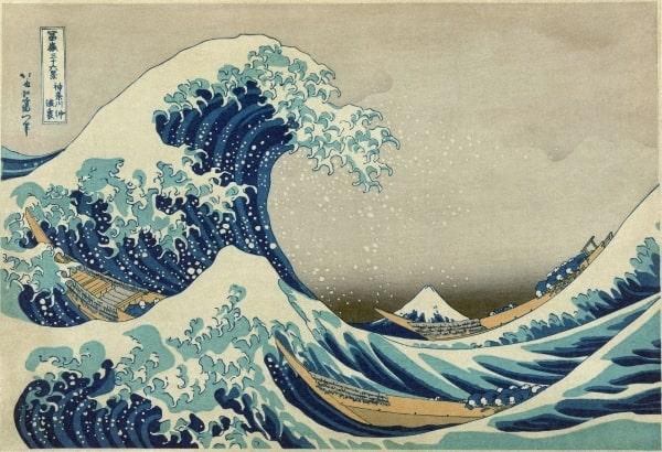 """Bức họa """"Sóng lừng tại Kanagawa"""" nổi tiếng của họa sĩ Katsushika Hokusai"""