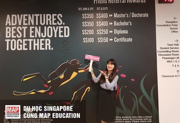 Cùng MAP giành học bổng du học Singapore toàn phần