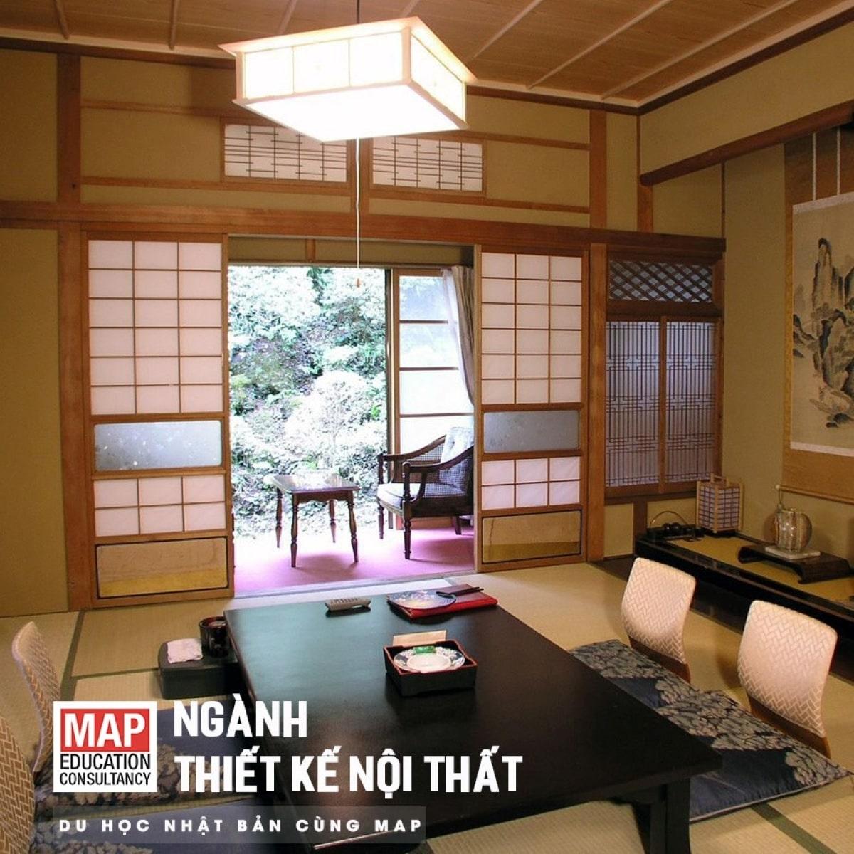 Du học Nhật Bản ngành thiết kế nội thất – Cơ hội tiếp cận phong cách bày trí đơn giản và tinh xảo