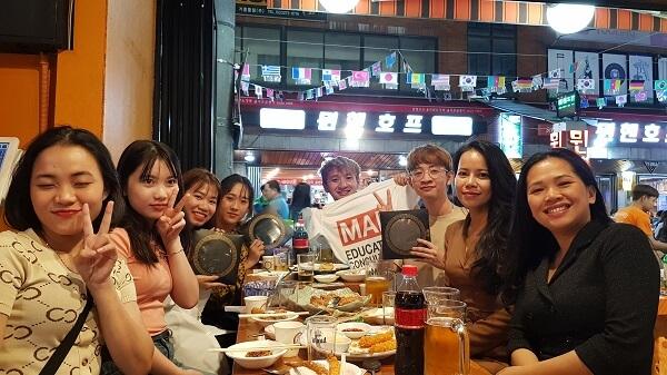Du học sinh Hàn Quốc của MAP ở chung kí túc xá để cùng nhau học tập và chia sẻ kiến thức