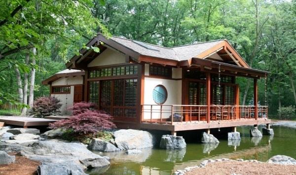 Hòa hợp với thiên nhiên là một trong những phong cách nổi bật khi du học ngành kiến trúc tại Nhật Bản