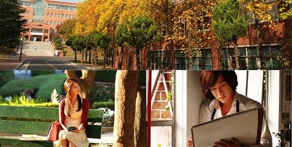 """Trường đại học Keimyung là bối cảnh của phim truyền hình """"Love Rain"""" nổi tiếng của Hàn Quốc"""