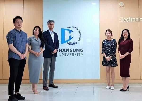 MAP đến thăm và làm việc tại Đại học Hansung - Trường chứng nhận Hàn Quốc năm 2021