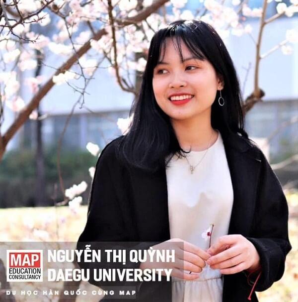 Nguyễn Thị Quỳnh – Sinh viên MAP ưu tú tại Đại học Daegu