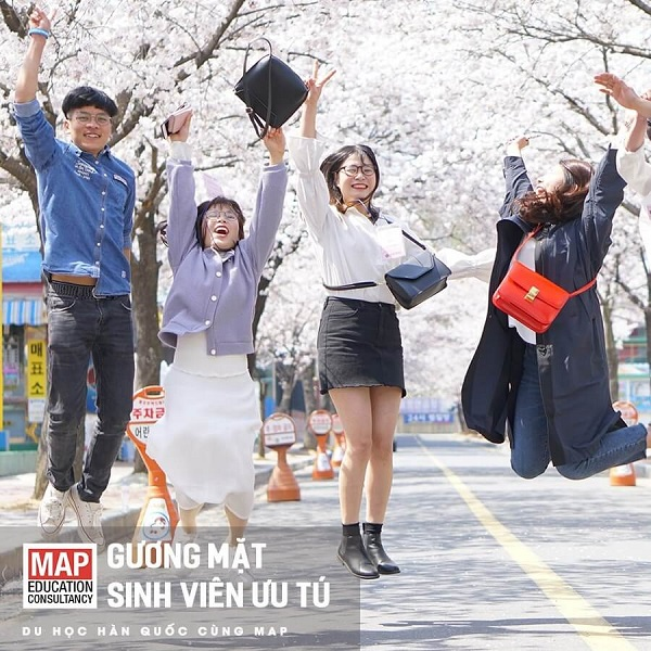 Nhóm sinh viên MAP tại Đại học Quốc gia Jeonbuk