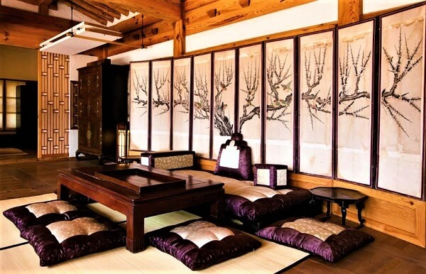 Thiết kế nội thất phòng khách truyền thống của Hàn Quốc