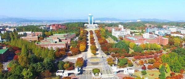 Trường Đại học Daegu với diện tích 2,685,000 m2