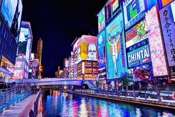 Du học Nhật Bản ở đâu là tốt? Dotonburi - Khu phố nổi tiếng tại Osaka