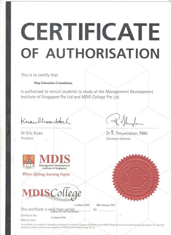 MAP tự hào là đại diện tuyển sinh chính thức của Học viện MDIS Singapore