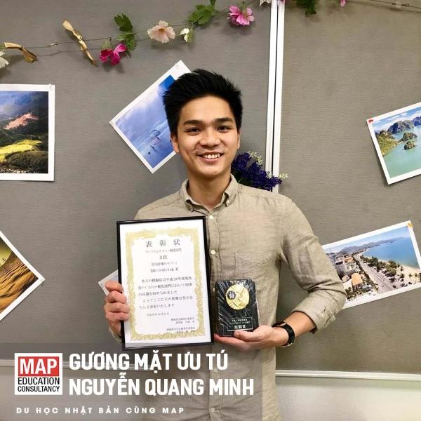 Tấm gương du học Nhật Bản hệ vừa học vừa làm - Nguyễn Quang Minh