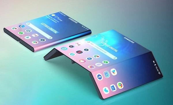 Mẫu thiết kế điện thoại gập kép mới nhất của Samsung