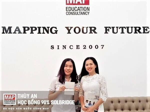 Bạn Thùy An – sinh viên MAP giành học bổng 90% tại Trường Kinh doanh Quốc tế SolBridge