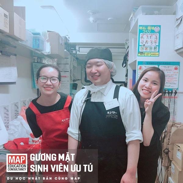 Bạn Vân Anh – sinh viên MAP – đã dễ dàng kiếm cho mình công việc nấu ăn yêu thích
