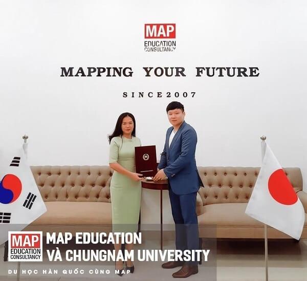 Du học MAP là đại diện tuyển sinh chính thức của ĐHQG Chungnam tại Việt Nam