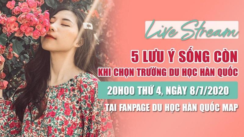 """Live Stream: 5 Lưu Ý """"Sống Còn"""" Khi Chọn Trường Hàn Quốc!"""