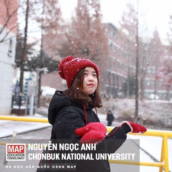 Bạn Ngọc Anh – sinh viên MAP học tập tại Đại học Quốc gia Jeonbuk