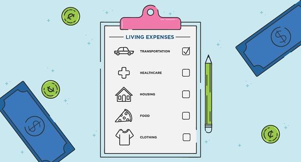 Tùy vào loại hình nhà ở và phương tiện đi lại mà sinh hoạt phí sẽ khác nhau