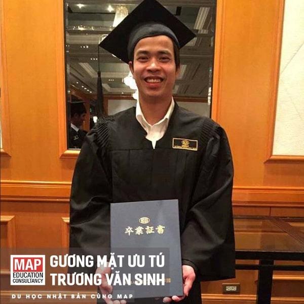 Trương Văn Sinh - Sinh viên tiêu biểu của MAP, hiện đang từng bước chinh phục ước mơ du học ngành kinh tế tại Nhật Bản