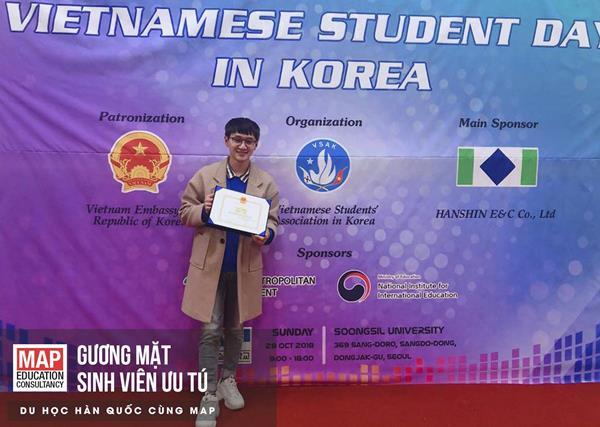 Tuấn Hoàng - Sinh viên ưu tú của MAP tại Daejeon