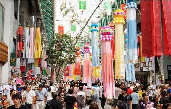 Sinh viên có thể trải nghiệm lễ hội Tanabata khi du học ở Sendai