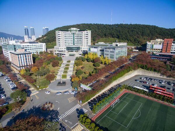 Toàn cảnh trường đại học Tongmyong Hàn Quốc