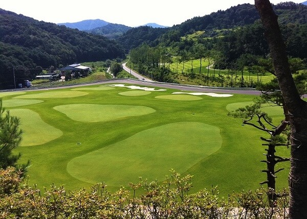 Hệ thống sân golf 8 lỗ hiện đại của Đại học Golf Hàn Quốc