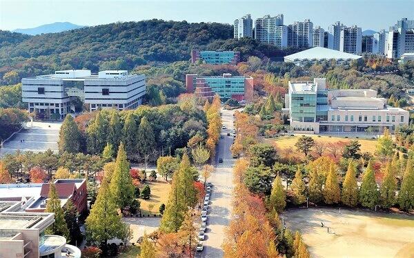 Toàn cảnh trường ĐH Suwon