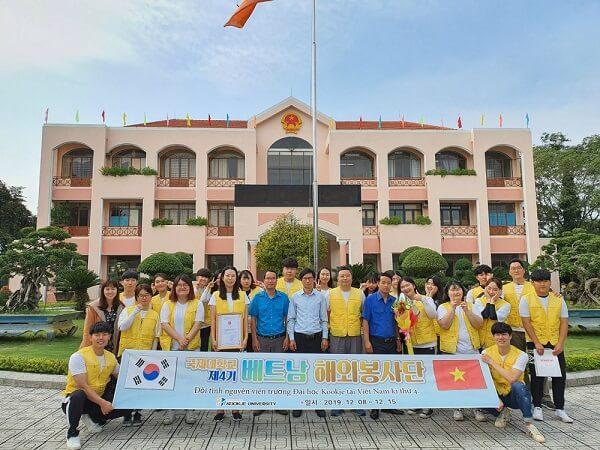 Đoàn sinh viên tình nguyện của Kookje tại Việt Nam