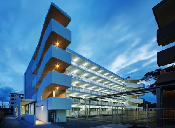 Một khu ký túc xá trường đại học Okayama Nhật Bản