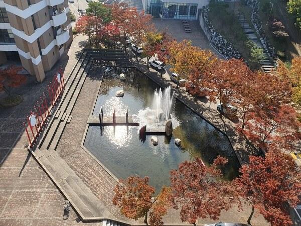 Một góc học xá trường Ansan Hàn Quốc