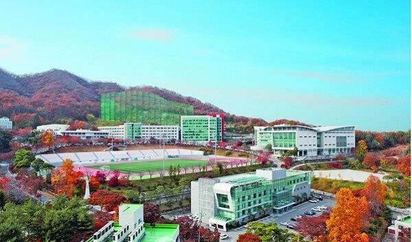 Khuôn viên Yong In University rộng rãi và sạch đẹp