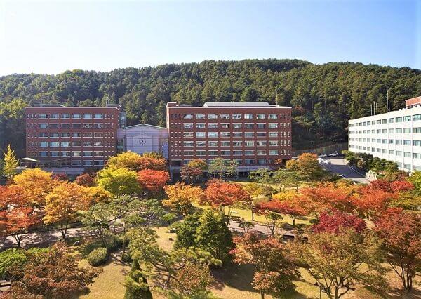 Khuôn viên trường Yeonsung đẹp rực rỡ vào mùa thu