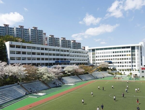 Sân bóng trường Busan Institute of Science and Technology