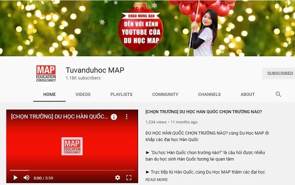 Kênh Youtube chính thức của Du học MAP