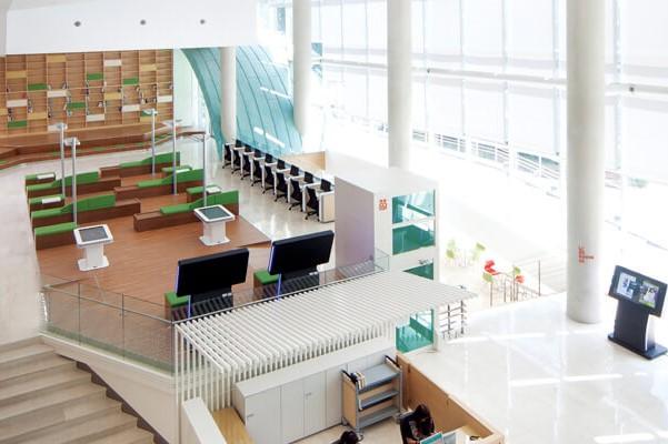 Góc tự học trong thư viện trường Wonkwang Hàn Quốc