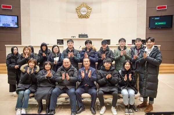 Cuộc gặp gỡ của sinh viên trường và Hội đồng thành phố Yongin