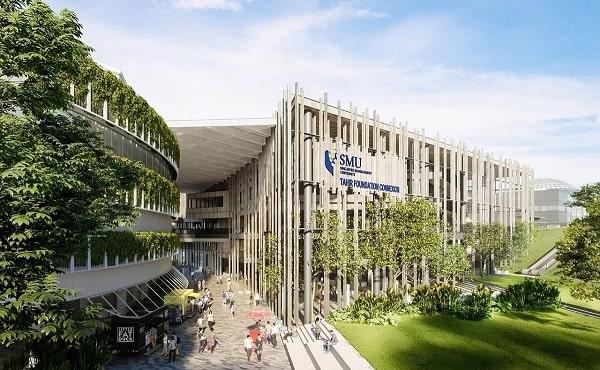 Trường tọa lạc trong khuôn viên Đại học SMU