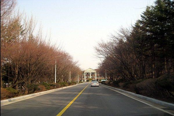 Lối vào trường Hợp tác xã Nông nghiệp Hàn Quốc
