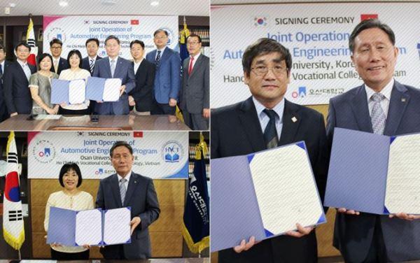 Lễ ký kết hợp tác đào tạo với 2 trường tại Việt Nam
