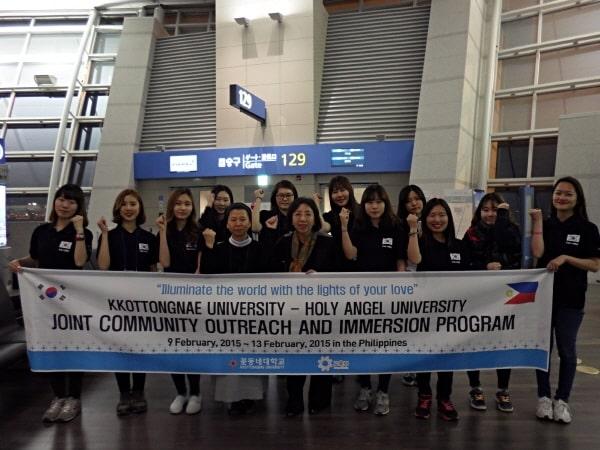 Sinh viên đại học Công giáo Kkottongnae tham quan ngoại khóa